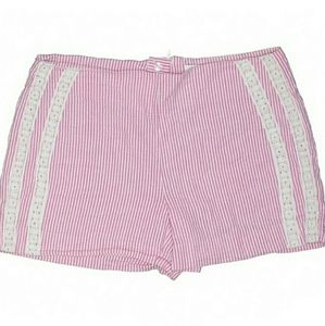 Crown & Ivy Seersucker Lace Striped casual Shorts